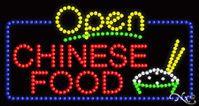 """NEW """"OPEN CHINESE FOOD"""" 32x17 SOLID/ANIMATED LED SIGN W/CUSTOM OPTIONS 25423"""