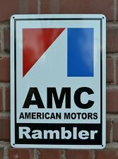 AMC RAMBLER SIGN Gremlin 72 Pacer AMX Jeep Racing Garage Mechanic Shop SIGN 7day