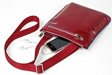 PIquadro Blue Square red flat shoulder bag CA1358B2/R