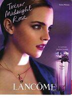 PUBLICITE ADVERTISING 2011   PM  LANCOME Parfum TRESOR MIDNIGHT ROSE EMMA WATSON