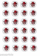 24X EDIBLE CUPCAKE CAKE TOPPERS CARDIFF DEVILS ICE HOCKEY WALES
