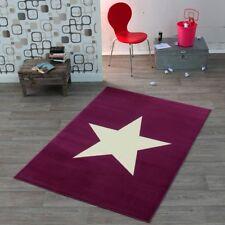 Design Velours Teppich Stern violett 140x200 Cm | 102200