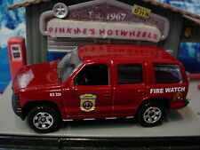 2014 OUTDOOR SIGHTS Design '97 CHEVY TAHOE☆Red suv; Fire Watch☆LOOSE☆Matchbox