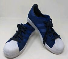 Addias Superstar Mens Size 7 Blue Black White Laced