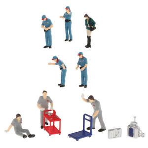 11x 1/64 Model Characters People Street Building Railway Layout Diorama