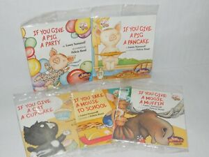 Chick Fil A Kids Meal Complete Set of 5 If you Give A Pig A Pancake Series