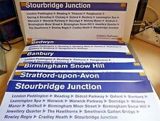 CHILTERN RAILWAYS 2002 6 x Different Carriage Window Labels ~ Paddington ~ Bham