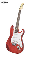 NEWEN -  Stratocaster Style Electric Guitar Made Argentina Solid White Oak - Red