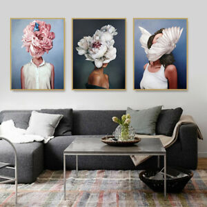 Poster  Abstract  Women  Decor  Painting  Gift Home  Picture  Modern  Canvas