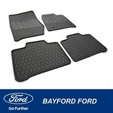 RUBBER FLOOR MATS GENUINE FORD RUBBER WATER PROOF TERRITORY SZ - FULL SET OF 4