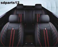 Ford Suzuki Audi Housses Sièges Luxe Jeu Complet Cuir Noir Tissu Rouge Broderie