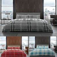 Bardsley Check  Luxurious Duvet Covers Quilt Cover Reversible Bedding Sets