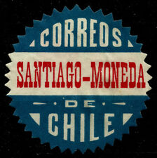 CHILE, OFFICIAL SEAL, SANTIAGO-MONEDA, SAWTOOTH, MNG