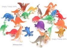 Dinosaurs 24 Figures Kids Play Set Toy Game Animals Jurassic T-Rex TRex Plastic