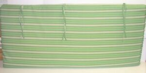 """Outdoor Patio Bench Cushion ~ Spicy Lime Stripe ~ 20.5"""" x 46"""" x 2.25"""" **NEW**"""