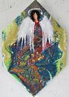 Guardian Angel Original Painting On Ceramic Tile Art by Rain Crow