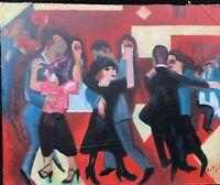 1950s GERMAN EXPRESSIONIST SCHOOL  OIL PAINTING signed Kirchnor ????????