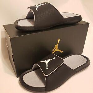 Nike Jordan Hydro 6 Slides Sandals Black, Wolf Grey New Mens Size 10, 881473-011