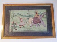 Peinture orientale sur tissu à identifier