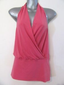 TOILLE Pink Stretch Fabric Halter Neck Top RP$54.95 BNWT M