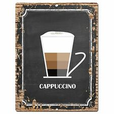 PP0753 Cappuccino Chic Plate Sign Home Bar Kitchen Cafe Shop Store Decor Gift