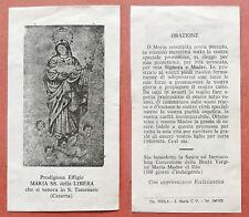 Santino Holy Card: Maria SS. della Libera - S. Tammaro (Caserta)