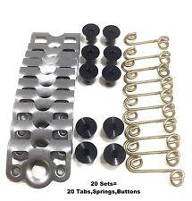 "7/16"" Aluminum Dzus Button / Springs / Tab Plate / Black Dzus Buttons 20 pack"