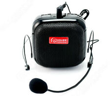 25W Waistband PA Voice Amplifier Booster W/FM Wireless Microphone For Meeting,