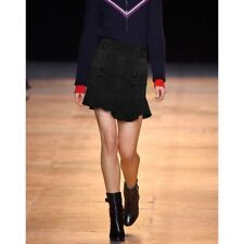 ISABEL MARANT, Runway Piece, Black Suede Leather Mini skirt