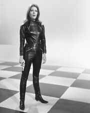 Diana Rigg In Leather From The Avengers B&W 16x20 Canvas Giclee
