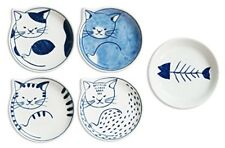 Hasami ware neco kitten dish set of 5 (wooden box) 303302 B 500 Japan Kawaii