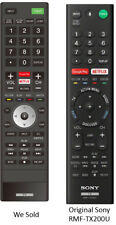 Replaced SONY RMF-TX200U Version 1 TV Remote Control for Sony TVs