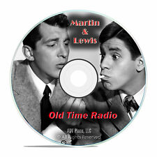 Dean Martin & Jerry Lewis, Comedy Duo, 587 Old Time Radio Show, OTR mp3 DVD G47