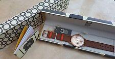 Nuevo Reloj de Orla Kiely Betty OK2090 Swarovski florido de Cuero para Mujeres y Chicas RRP £ 99