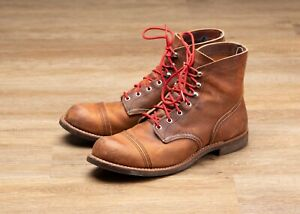RED WING HERITAGE IRON RANGER COPPER ROUGH AND TOUGH SIZE 11.5 D MODEL 8085