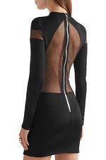 Balmain Black Open back Dress UK10  FR38 New