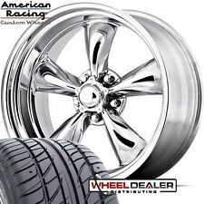 "17x7-17x8"" AMERICAN RACING TORQ THRUST WHEEL TIRE PACKAGE FOR CHEVELLE 1964 1965"
