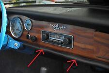 VW KARMANN GHIA NEW KICK PAD, 2-PIECE LOWER DASH 1968-1971 COUPE OR CONVERTIBLE!