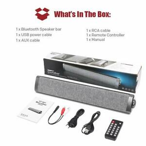 Computer Speakers, Wired and Wireless Sound Bar, Home Theater Stereo Soundbar