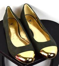 Worthington Green Gold Toe Ballet Flats Size 10 M