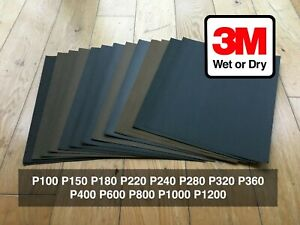3M WET OR DRY SANDPAPER MIXED PACK of 25 SHEETS. Range from P100-P1200 TRI-M-ITE
