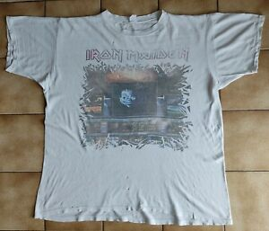 IRON MAIDEN somewhere in time 1986 european tour SHIRT rare OG vintage collector