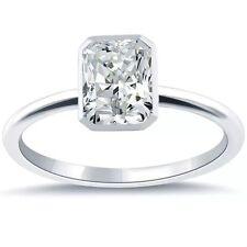 1.02 CARAT K VVS2 GIA CERTIFIED RADIANT CUT DIAMOND ENGAGEMENT RING SET IN PLAT