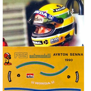 1.12 Decals Scale Helmet Casco Ayrton Senna McLaren decal decalcomania