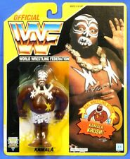 HASBRO WWF WRESTLING YELLOW CARD KAMALA FIGURE 1992 MOC