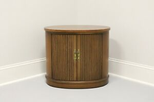DREXEL Pan Tempo Mid Century Oval Cabinet Accent Table