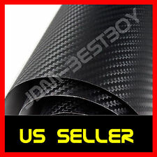 24 x 60 inches 3D Twill Weave BLACK Carbon Fiber Vinyl Wrap Decal Film Sheet