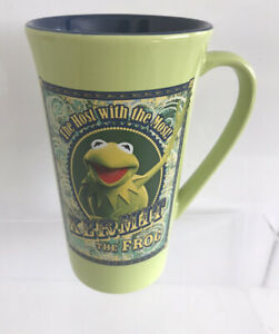 """The Muppets Kermit The Frog Mug Disney Store Host With The Most Jim Henson 6"""""""