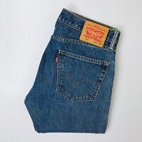 Vintage Levi's 505 Jeans 32W 30L Dark Blue Regular Fit Straight Leg Zip Fly