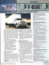 Truck Brochure - Ford - F-650 - Super Duty Straight Frame - 2005 (T1311)